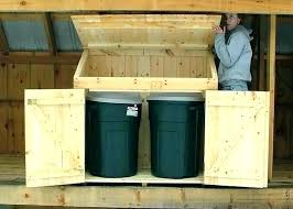 outside trash can storage container shed outdoor garbage ideas diy outdoor trash