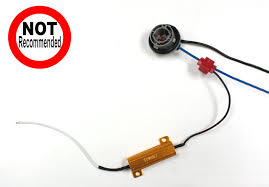 how to install 50w 6 ohm load resistor for led turn signal lights led load resistor splice 14
