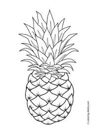 pineapple drawing. pineapple fruits coloring pages for kids, printable free drawing