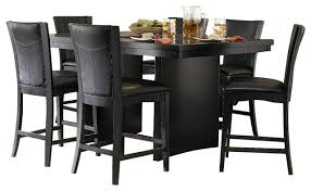 amazing 7 piece black dining room set with 7 piece dining room set black