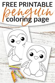 Grab your free coloring pages today! Free Printable Penguin Coloring Page Simple Mom Project