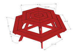 Free Picnic Table Designs Hexagon Picnic Table Picnic Table Plans Octagon Picnic