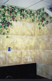 custom made painted stone tiles faux finish