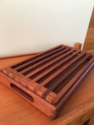 Kalmar Designs Vintage Teak Bread Tray Kalmar Designs Teak Serving Tray