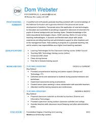 Teaching Resume Modern Comtemporar The Best Cv Templates By Industry And Job Titles My Perfect Cv