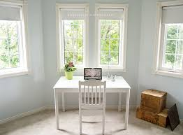 colors to paint office. my finished office paint is benjamin moore glass slipper desk painted with van colors to l