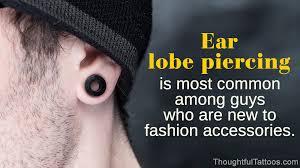 Ear Piercings For Men