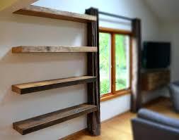 amazing floating shelf with light led rustic beautiful at underneath ikea diy b m uk and speaker puck corner