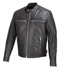 mens soft sheep leather jacket black w padded