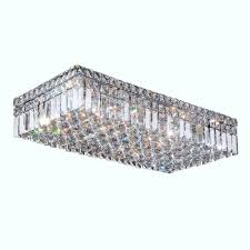 worldwide lighting cascade collection 6 light crystal and chrome ceiling light