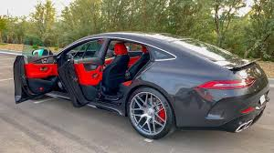 Graphite grey metallic with red bk interior. 2019 Mercedes Amg Gt 63 4 Door Coupe 4matic Startup Exhaust And Review Youtube