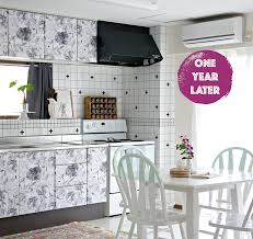 Stacy Covered Her Rental Countertop With Contact Paper & DIY