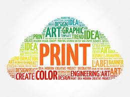 Print Word Cloud Stock Vector Dizanna 112551686