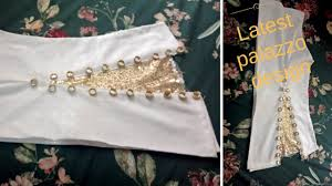 Bell Bottom Pajama Design Latest Palazzo Design Bell Bottom Trouser Design Cutting And Stitching
