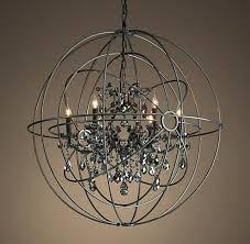 chandeliers restoration hardware chandelier orb twin smoke crystal matte natural hard