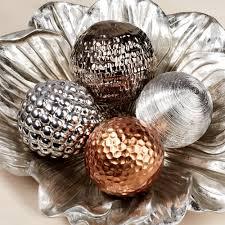 Decorative Orbs For Bowls Home Accessories Montesilvano Metallic Decorative Orbs Set 13
