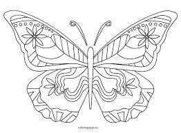 Free Butterfly Coloring Pages For Toddlers Of Butterflies Adults