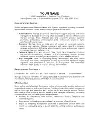 Awesome Front Office Admin Resume Format In Cv Office Assistant