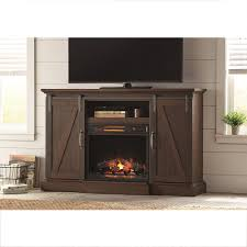 home decorators collection chestnut hill 56 in tv stand electrictv stand electric fireplace with sliding barn