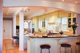 Image of: Lovely kitchen with bar design
