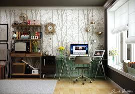 astounding home office ideas modern interior design. Astounding Home Office Wall Tree Pattern Interior Ideas Using Ikea Modern Design D