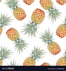 Pineapple Pattern Fascinating Watercolor Tropical Pineapple Pattern Royalty Free Vector
