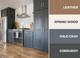 dark gray brown and white kitchen