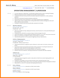 Supervisor Resume Camelotarticles Com