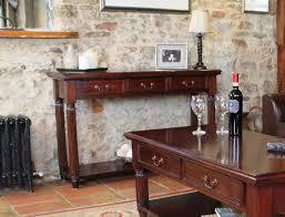 mahogany hall table. la roque mahogany console hall table (with drawers)