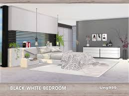 ung999's Black White Bedroom