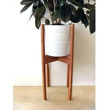 large mid century modern plant stand square legs oak wood mid century wood plant stand diy