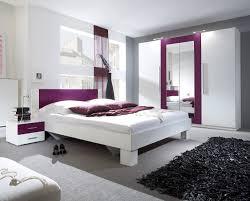 Schlafzimmer Komplett 4 Teilig Mit Kleiderschrank Weiß Lila