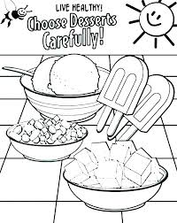 Healthy Foods Coloring Pages Healthy Food Coloring Sheets Pages To