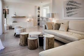 Tree stump furniture Outdoor View In Gallery Combining The Contemporary With The Rustic Justinecelina Tree Trunk Decor Ideas Tables Stools Mirrors And Floating Shelves