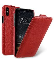 premium leather case for apple iphone x jacka type red lc
