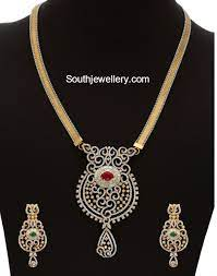 diamond pendant set with