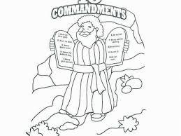 Ten Commandments Coloring Pages Catholic Free Printable Ten