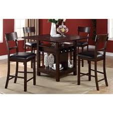 dining table set with lazy susan. poundex 5 pc barista collection dark rosy brown wood finish counter height dining table with built set lazy susan