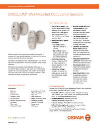 Stairwell Lighting Occupancy Sensor Encelium Wall Mounted Occupancy Sensors Manualzz Com