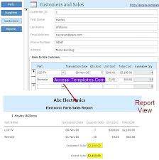 Related Post Sales Database Template Excel Invoice Office Templates