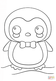 Small Picture Kawaii Penguin coloring page Free Printable Coloring Pages