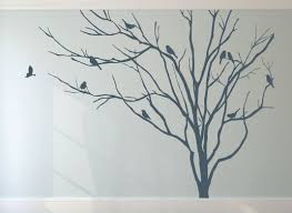 Small Picture Wall and Window Decals Realistic Winter Tree Stick On Wall Art