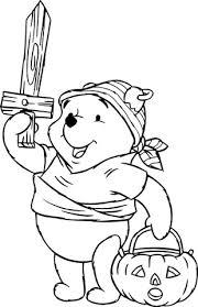 Disegno Di Winnie The Pooh E Halloween Da Colorare Disegni Da