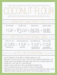 Flour To Coconut Flour Conversion Chart Coconut Flour Conversion Chart Ive Used It And It Works