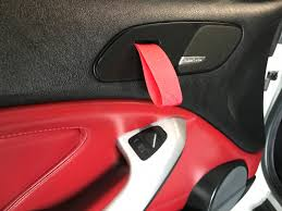 we still had too much red and it didn t look completely custom yet or personalized we had too much red in the door panels so we pulled those