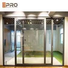 sound proof aluminium sliding glass