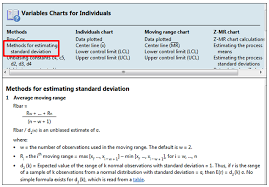 Xmr Chart Formula Methods And Formulas How Are I Mr Chart Control Limits