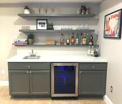 hanging open shelving kitchen decoration