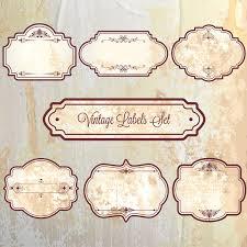 vintage frame labels sets on faded background