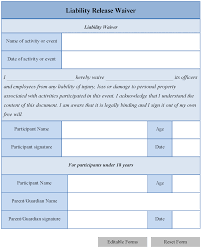 Free Car Accident Waiver And Release Of Liability Form Pdf | Word ...